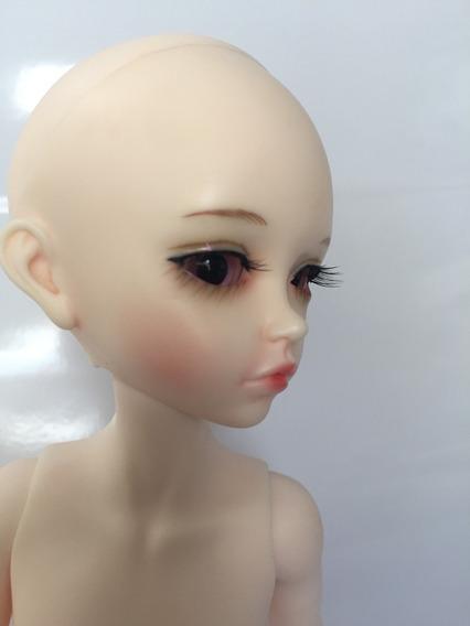 Doll Bjd Recast 1/6 Normal Skin+makeup Com Peruca Loira