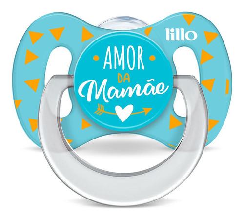 Kit 2 Chupetas Funny Amor Tam 1 Azul - Lillo