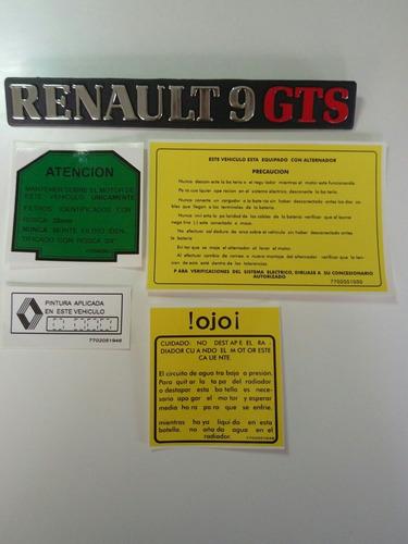Renault 9 Calcomanias Y Emblema