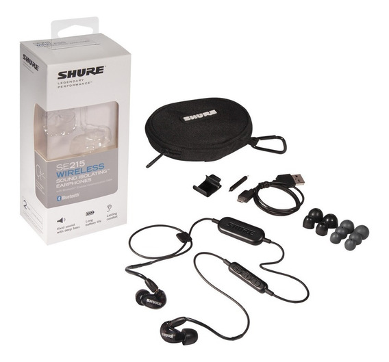 Fone Shure Se215 Wireless Bluetooth Preto Ou Transparente