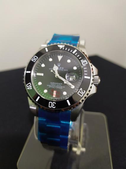 Relógio Rolex Submariner, Máquina Etta, 2 Anos De Garantia