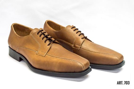 Zapatos Vestir Cuero Con Base De Goma Hombre Puerto Blue