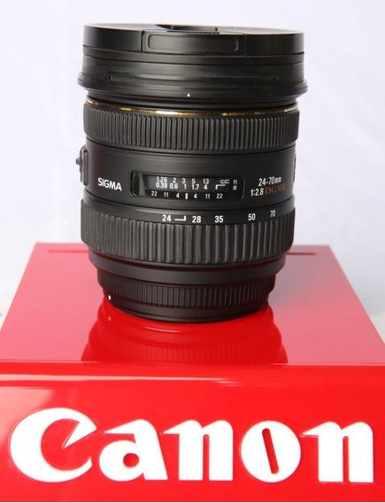 Lente Sigma 24-70mm F/2.8 Dg Hsm P/ Canon