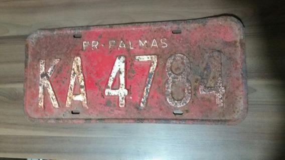 Placa Vermelha Aluguel Carro Caminhão Antigo Palmas Pr