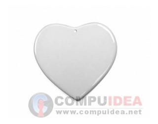 Cerámica Corazón Sublimar Sublimación Blanco 7cmx7,5cm