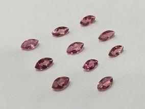 Promoção Turmalinas Naturais Rosa Pink Navete 10 Pedras