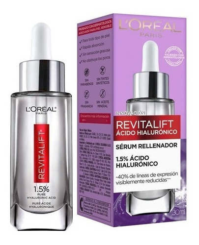 Sérum Facial L'oreal Revitalift Acido Hialuronico 30ml