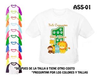 Animalitos De La Selva Safari Franela Camisa Personalizada