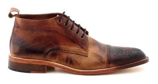 Bota Cuero Hombre Briganti Botita Zapato Vestir - Hcbo00851