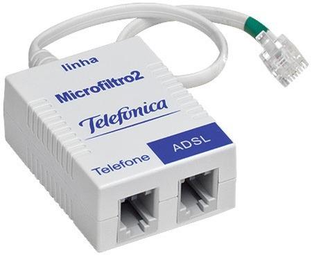 Micro Filtro Adsl - Duplo - Telefone Modem Internet