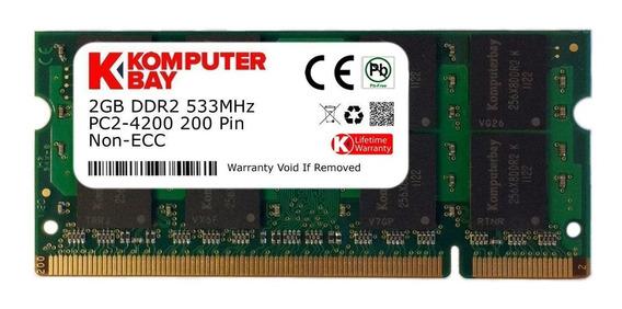 Memoria Ram 2gb Komputerbay Ddr2 533mhz Pc2-4200 Pc2-4300 Ddr2 533 (200 Pin) Sodimm