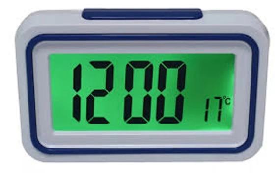 Relógio Despertador Fala Hora Deficiente Visual Azul S/juros