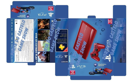 Arte Em Pdf Caixa Playstation 3 Slin Vermelho