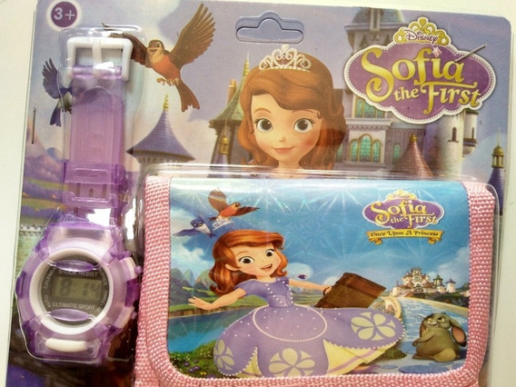 Relógio+carteira Princesa Sofía+ Brinde Toalha