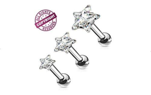 Piercing Set X 3 Escala De Estrellas Piercing Argentina ®