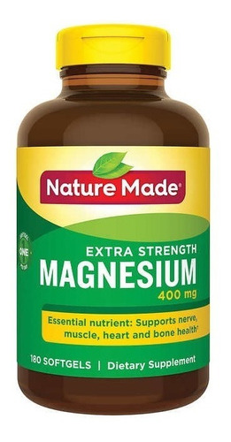 Magnesio Extra Strenght 400mg 180cap
