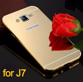 Capa De Celular Para Galaxy J7 Dourada Espelhada Tipo Luxo