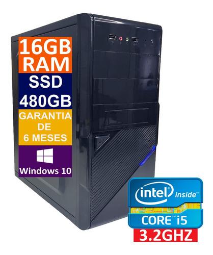 Imagem 1 de 5 de Pc Computador Cpu Core I5 Ssd 480gb / 16gb Ram / Fonte 500w