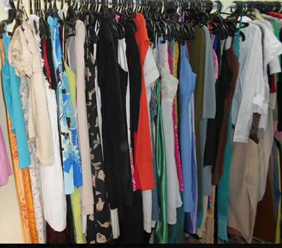 Lote 10 Peças Vestidos Feminino Usado 38/50 Roupa Brechó