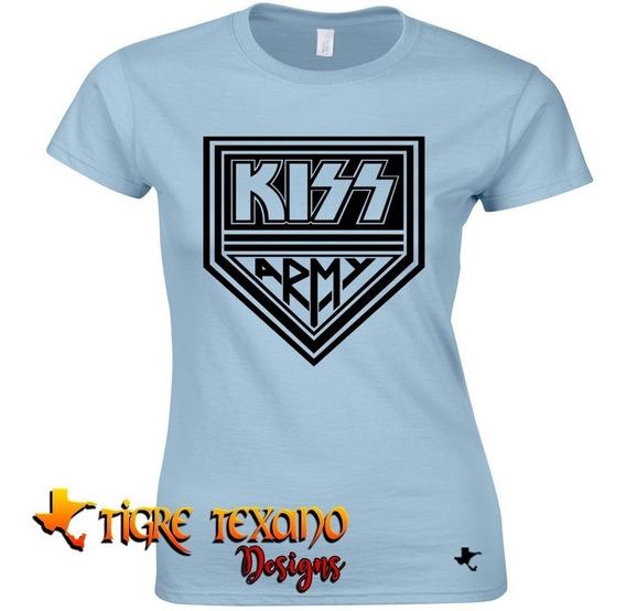 Playera Bandas Kiss Modelo 02 By Tigre Texano Designs