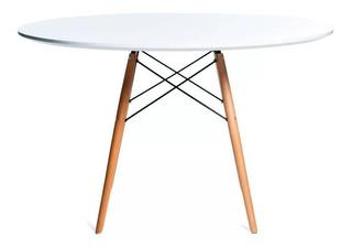 Mesa De Comedor Redonda De Madera Laqueada - Eames 100 Cm