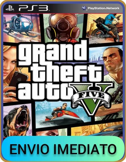 Gta 5 Grand Theft Auto V, Ps3 Psn, Mídia Digital Completo