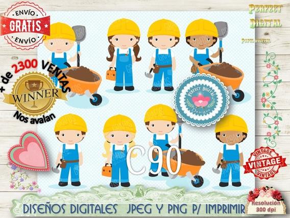 Kit Imprimible Construcción Maestro Mayor De Obras Niño Niña