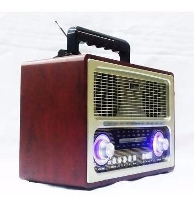 Rádio Fm\am Portatil Retro Sd Usb Bluetooh Antigo Song Star