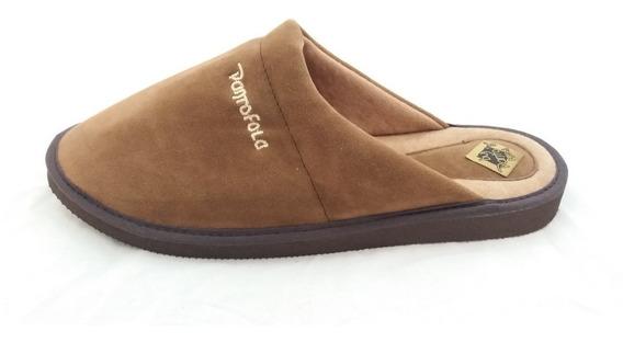 Pantufla Gamuzada Pantofola P/hombre Art 787 39 Al 46