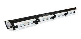 Patch Panel 24 Portas Cat5e Rj45 Certifica Fluke Rack
