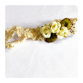 Faixinha Baby Floral - Laço De Cristal