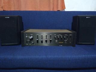Amplificador Continental Ca-1060 Bafles Sony 3 Vias Japones
