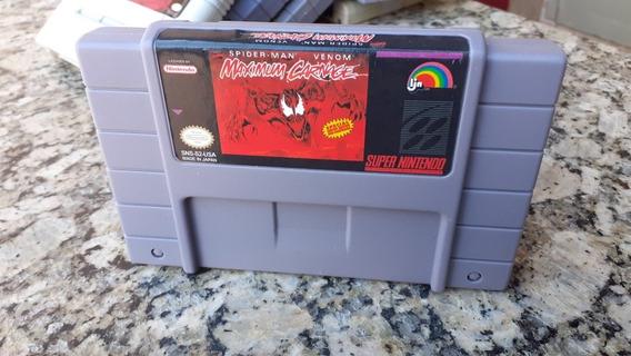 Maximum Carnage Snes Super Nintendo Novo