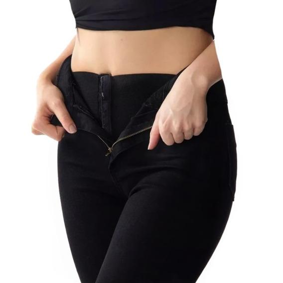 Calça Sawary Jeans Hot Pants Cintura Alta Super Lipo