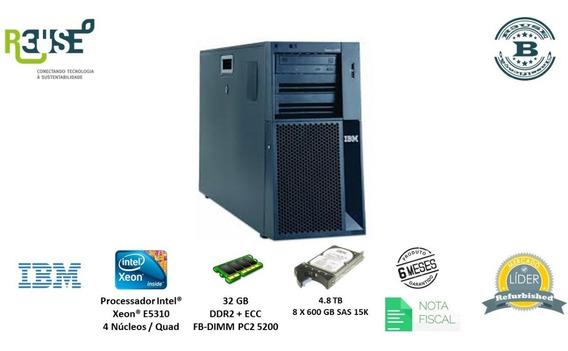 Servidor Torre Ibm System X3400 Xeon L5310 4c 32gb #lt.129