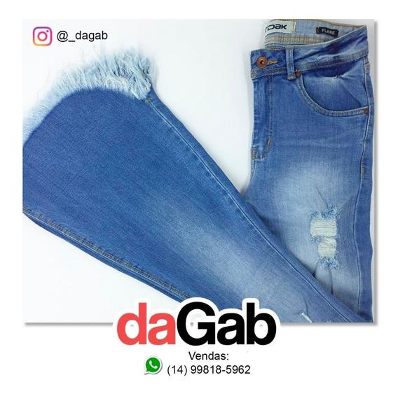 Calça Jeans Flare Dardak