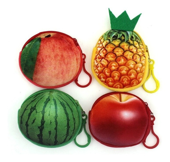 Porta Moeda Fruta Bolsinha Zíper Carteira Brinde Festa Un