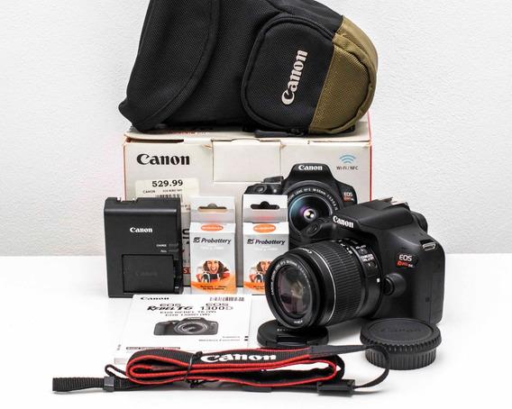 Canon Reflex T6 Bolso + Bateria Adicional De Regalo
