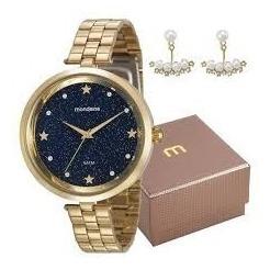 Relógio Mondaine Social Casual Dourado