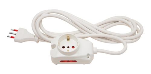 Alargue Electrico 10a Cable 5 Mt 2 Tomas 3 En Línea 1 Schuko