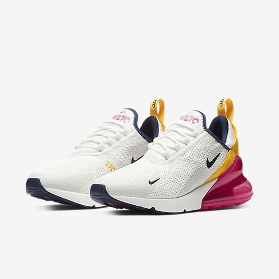 Tênis Feminino Nike Air Max 270 Branco Original - Footlet