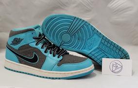 Tenis Jordan 1 Mid Azul Cielo Talla 28mx/10us
