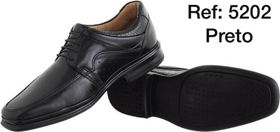 Sapato Social Masculino Barato Sapatenis Casual Preto Couro