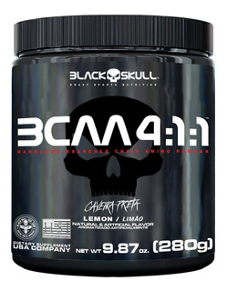 Bcaa 4:1:1 Drink Em Pó 280g - Black Skull Caveira Preta