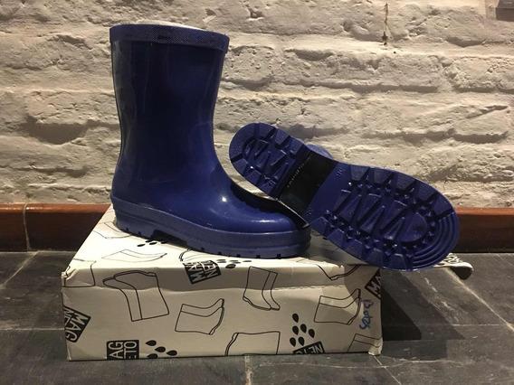 Botas De Lluvia 35/36 Azules Sin Uso.