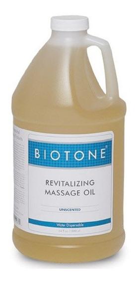 Aceite De Masaje Revitalizante Biotone Sin Perfume, 64 Onzas