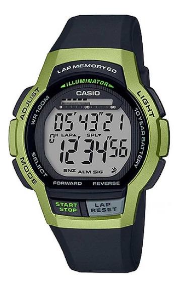 Relógio Casio Masculino Lap Memory60 Standard Ws-1000h-3avdf