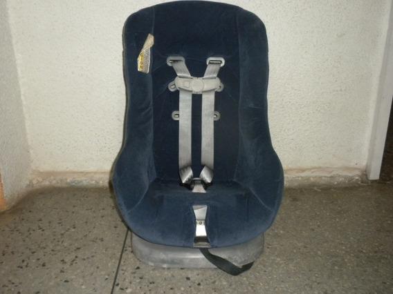 Silla Porta Bebe Para Carro Color Azul Marino Usada
