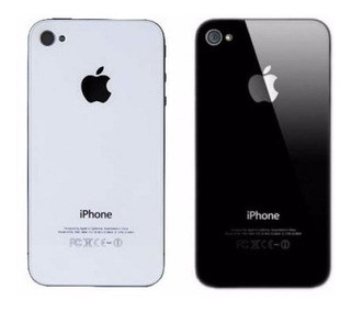 Tapa Vidrio Trasera iPhone 4s Original Negra Y Blanca