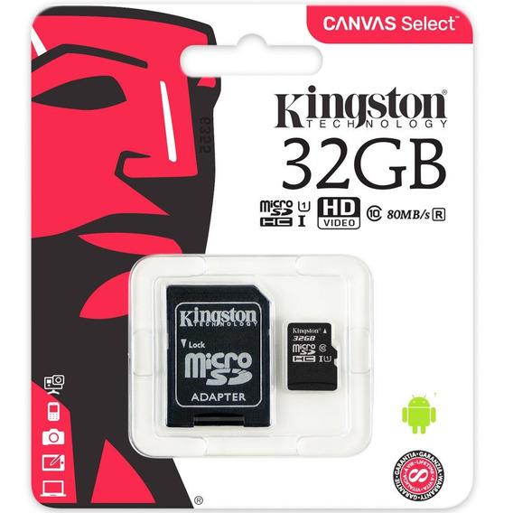 Cartão De Memória Kingstom Micro Sd 32gb Classe 10